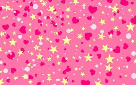 Sweet pink background with confetti. Vector illustration Illusztráció