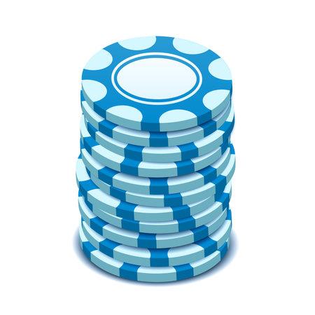 Blue chips, vector illustration in isometric style Illusztráció