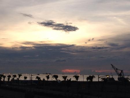 calmness: Calmness of sunset