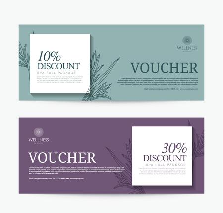 health resort: Gift Voucher template for Spa, Hotel Resort, Modern Design, illustration