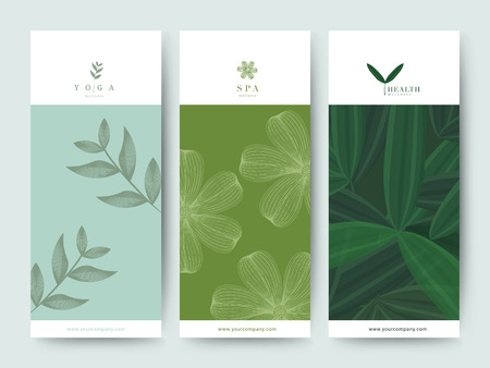 Branding packaging with nature theme to it good for brochure or voucher. 向量圖像