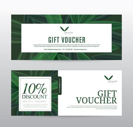 Gift Voucher template for Spa, Hotel Resort, Vector illustration Иллюстрация