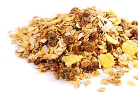 Pile of fresh muesli with dry fruit Stock Photo - 9481813