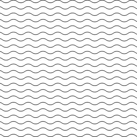 Black seamless wavy line pattern Illustration