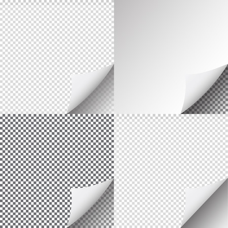peel off: Pages curl set stylish illustration design