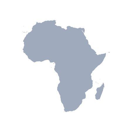graficzny wektor mapy krajów afrykańskich, wektor