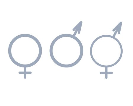 Female and male sex icon on white background editable Symbols of men and women. Flat design in stylish colors. - Vector illustration