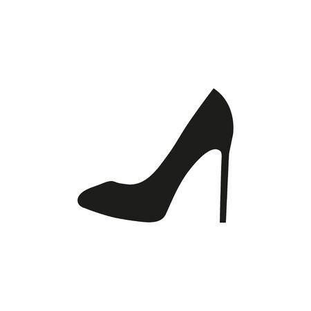 Black woman shoe icon. Vector Stock Illustratie