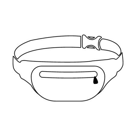 Waist Bag icon on white Stockfoto