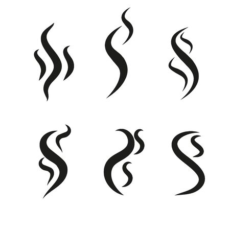 Smoke puff vector icon set illustration isolated on white background
