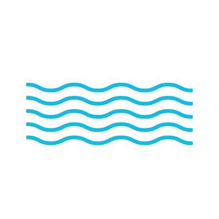 Wave icon sea. Vector illustration.