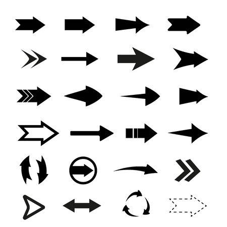 Arrows big black set icons. Arrow icon. Arrow vector collection. Arrow. Cursor. Modern simple arrows. Vector illustration