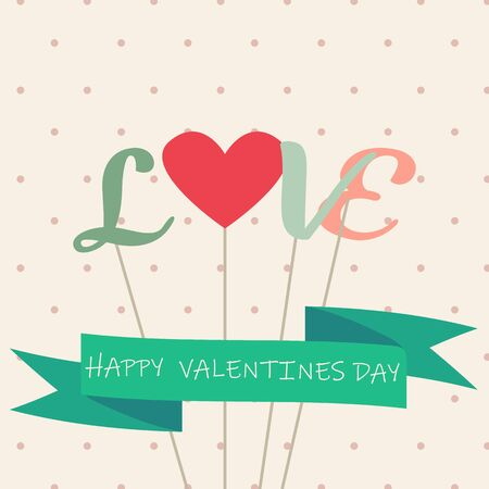 Happy valentines day and weeding cards - Vector