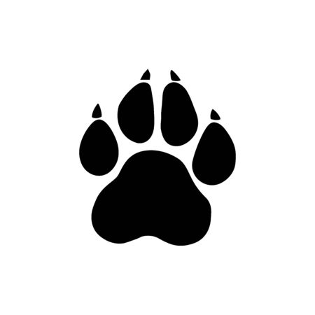 Paw Prints. Vector Illustration. Isolated vector Illustration.