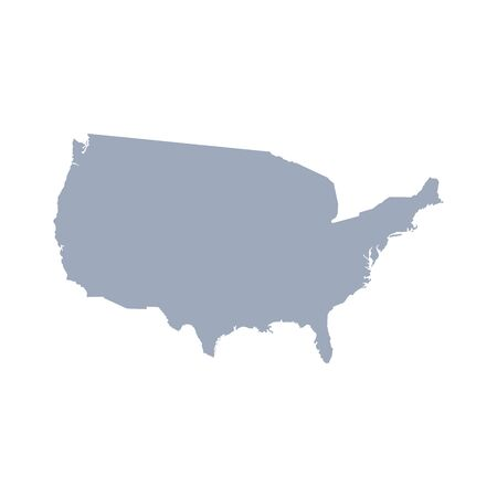 graphic vector of united states map