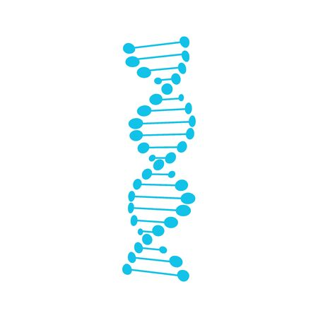DNA symbol strand Isolated on white background