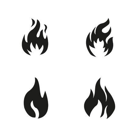 vector symbol fire flame icon on white background
