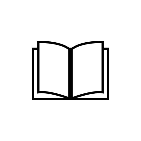 Book icon vector. Book icon isolated Illusztráció