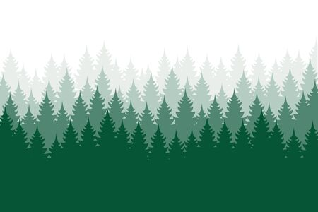 Forest background, nature, landscape. Evergreen coniferous trees. Pine, spruce, christmas tree. Silhouette vector Vetores
