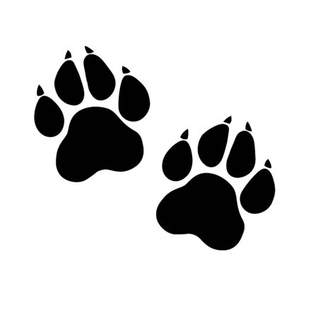 Paw Prints. Logo. Vector Illustration. Isolated vector Illustration. Stock Photo