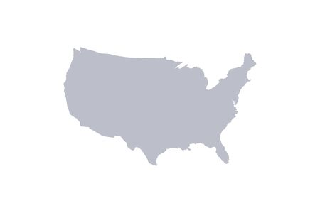 vector USA states map on white back