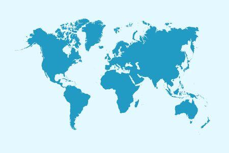 World map color vector modern Ilustracje wektorowe