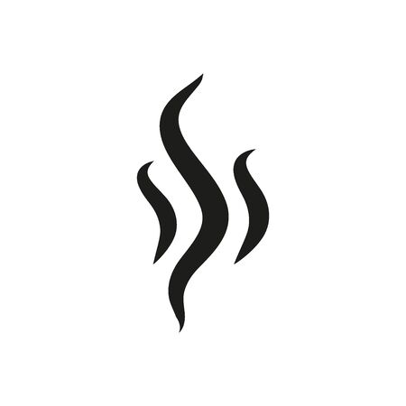 Smoke hot vector icon. Flat web design element for website or app.