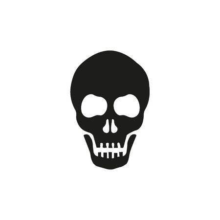 Skull Vector Icon on white back