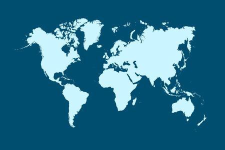 Carte du monde vecteur de couleur moderne Vecteurs