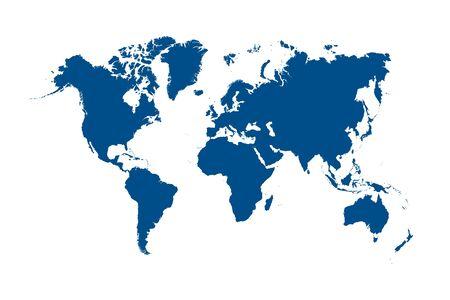 World map color vector modern