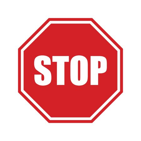 STOP sign! Traffic stop sign isolated on white background.