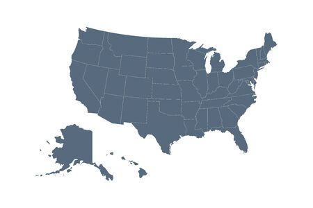 USA map. Flat style - stock vector. Standard-Bild - 149008996