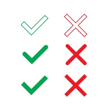 Check Mark Icon Set Vector Design. stock illustration