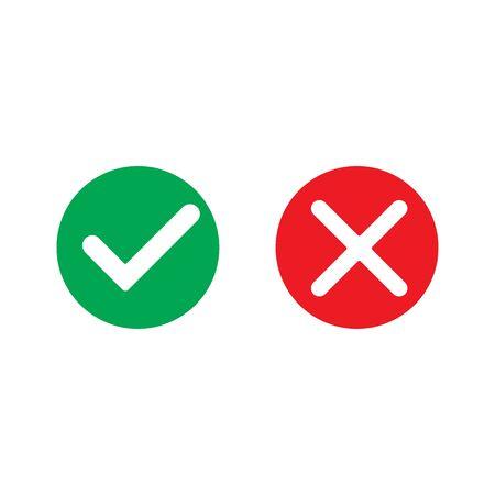 Yes and no mark, vector icon, web design element Standard-Bild - 149009008