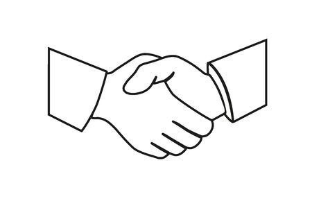 Handshake of business partners. Business handshake. Illustration