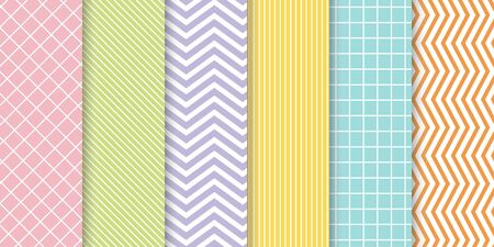 Collection of seamless ornamental vector patterns and swatches.