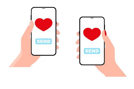 Sending love message concept.
