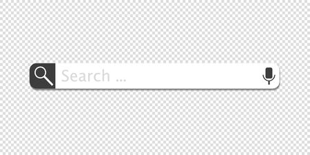 Web search bars vector illustration Illustration