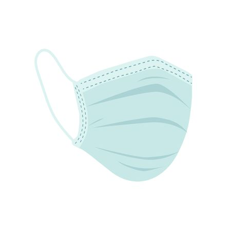 breathing medical respiratory mask. Hospital or pollution protect face masking.