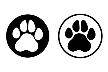 Paw Print icon. Vector. symbol for web site Computer and mobile