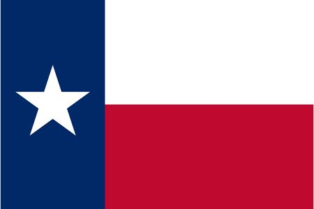 Texas flag, official colors and proportion correctly. National Texas flag.
