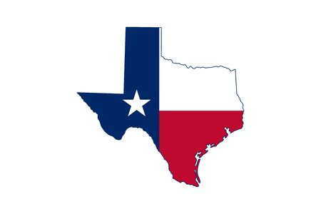 Texas map symbols icon vector