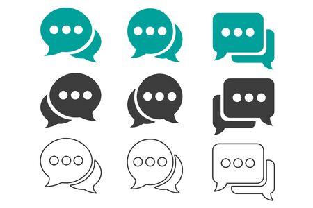 Chat symbol icon, Speech bubble icon vector?