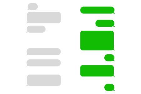 Short message bubbles. SMS Speech bubbles.