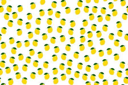 Lemon seamless pattern vector illustration. Illustration
