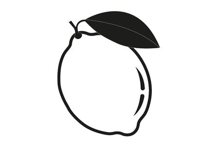 Lemon logo. lsolated lemon on white background