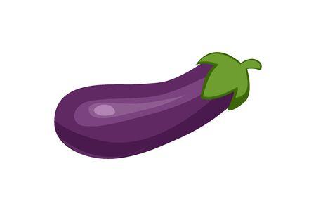 Fresh Eggplant vegetable isolated icon