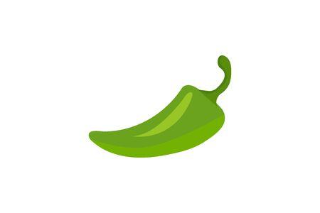 Icon green pepper. Vector illustration. Illustration