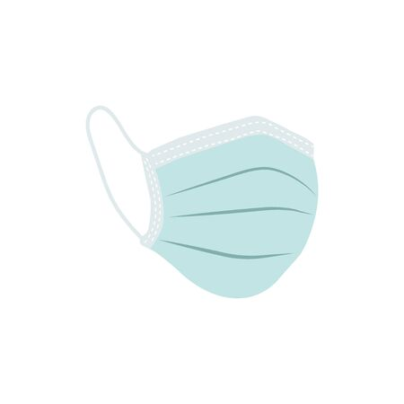 Protective medical face mask vector on white Illustration
