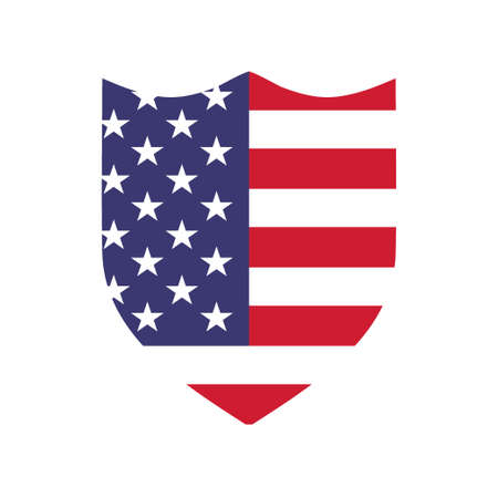 Shield with usa American flag icon